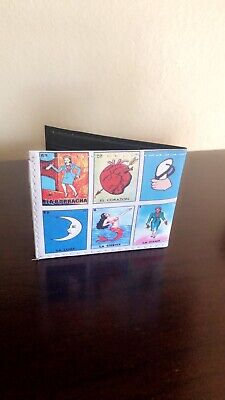 Mexican Loteria Bingo Game Money Dollar Bill Wallet Brand New
