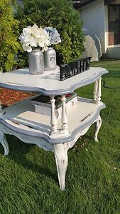 Large French provincial two tier table very unique
