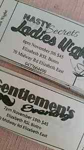 Nasty secrets ladies night tickets and guys night Elizabeth East Playford Area Preview