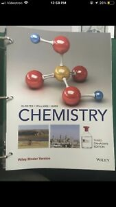 Chemistry 3rd with wiley access brand new still in plastic