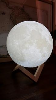 Bedside table moon lamp