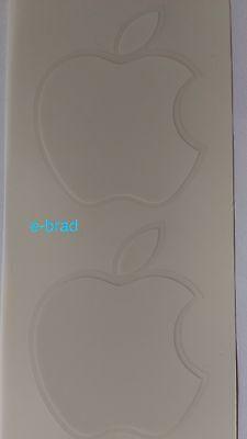 2x Apple Logo Autocollants Blanc Pomme 7,5x6cm d