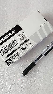 Zebra Sarasa retractable gel ink pen 0.7mm x 5 pcs black ink, Best selling