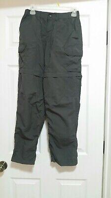 REI Co-op Gray Sahara Convertible Pants Shorts w/ No-Sit Zips Womens 2 -