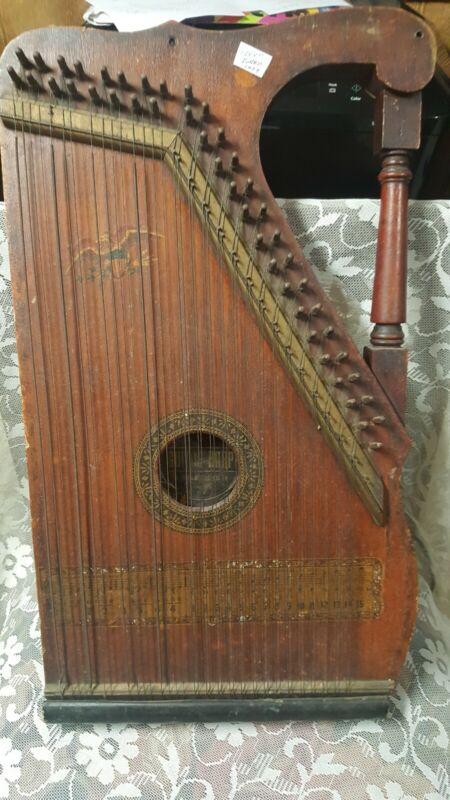 Antique Mandolin Guitar Harp