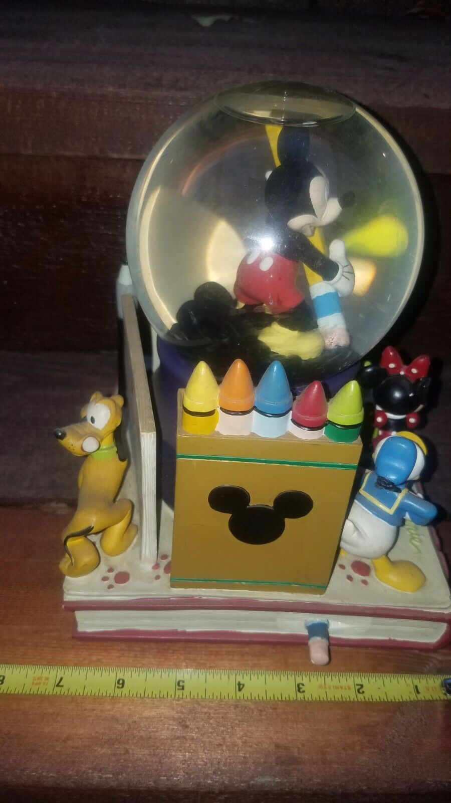 Retired Mickey Mouse Fab 5 Sketches Musical Snowglobe MMC - $25.00