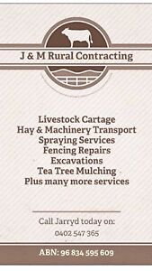 Cheap good rates Excavations Farm work Fencing Transport Heyfield Wellington Area Preview