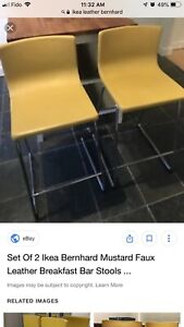 Selling two IKEA  Bernhard leather chairs $200