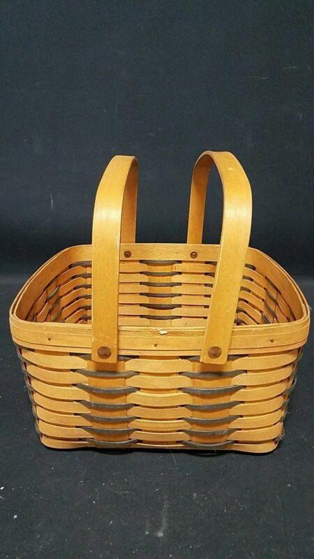 1999 Longaberger Square Two-Handle Basket