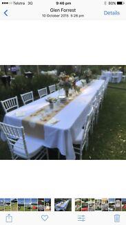 Banquet table hire $18.00 each plus delivery