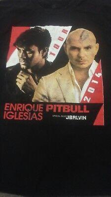 Enrique Iglesias Pitbull 2014 Concert Tour Black M T-Shirt 100% Cotton