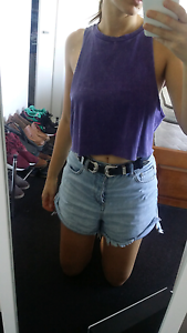 Purple crop top - size 10 Erskineville Inner Sydney Preview
