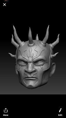 Star wars Savage Opress custom head sculpt hasbro black series