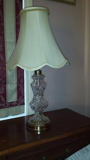 LARGE WATERFORD CRYSTAL TABLE LAMPS Cedar Creek Gold Coast North Preview