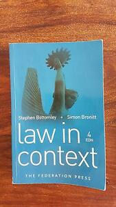 Law in context 4th ed. Newcastle Newcastle Area Preview