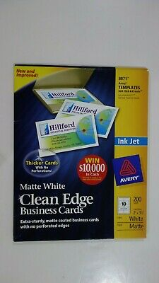 Avery 8871 Matte White Clean Edge Business Cards 920 Sheet 10 Cards Per Sheet