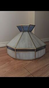 Vintage stained glass hanging lamp shade