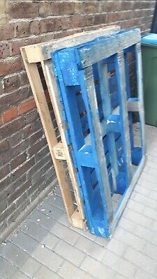 2x Used Heavy Duty wooden euro pallets FREE LOCAL delivery within 3miles Of KT12