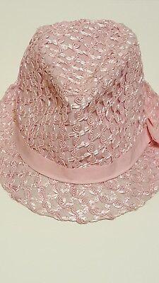 (Kenny K Pink Fedora Hat size M. Pink fedora.  Pink hat. Pink cap. )