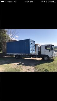Tilt n slide tow truck car trailer Brisbane towing shipping container