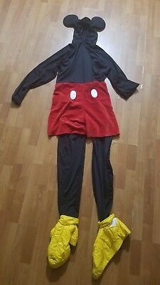 disney store mickey mouse RARE halloween adult costume size s - Mickey Mouse Halloween Costume Adult