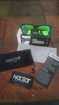NECTAR UNISEX LANDO POLARIZED SUNGLASSES BLACK BEACH EYEWEAR (Beach Eyewear)