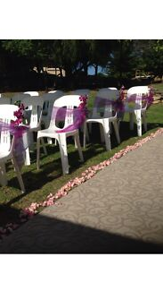 Party chair hire $2.00 each plus delivery