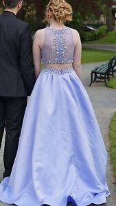 Lavender 2 piece ball gown prom dress!!