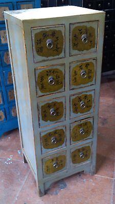 Antiker Apothekerschrank Kabinet Schrank Apotheke Massivholz Breite43xHöhe111cm