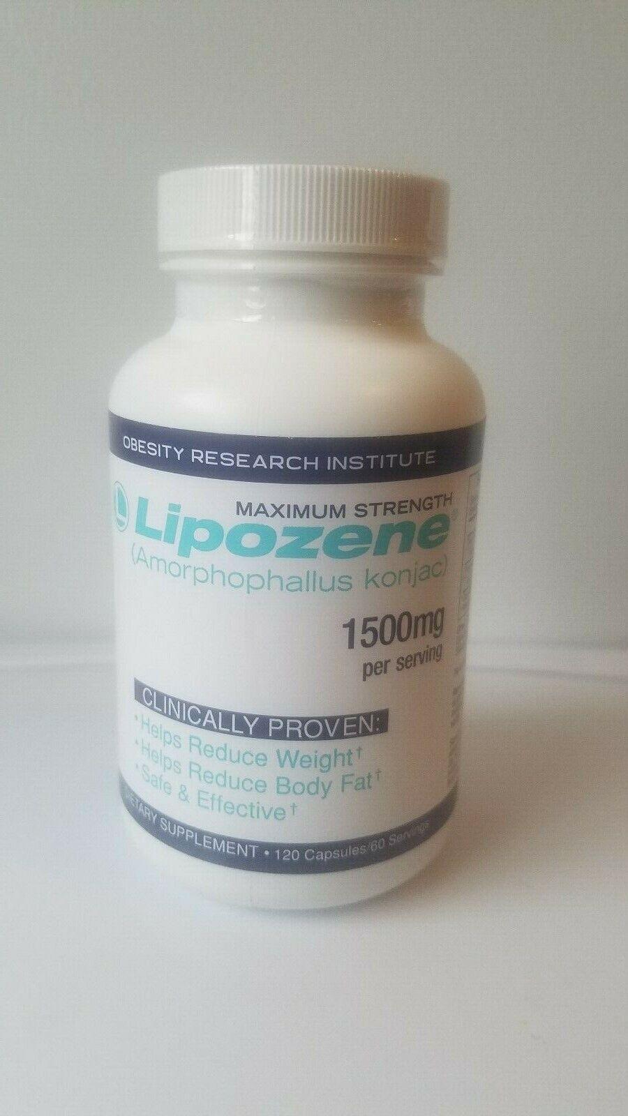 Lipozene maximum strength 1500mg per serving 120 capsules. FREE SHIPPING