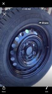 07 Honda Civic winter tires 200$ all 4 with rims