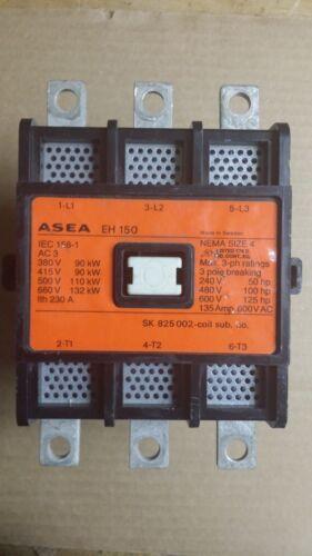 ASEA EH150 120VAC COIL NEMA SIZE 4 135A CONTACTOR