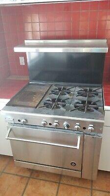 Imperial Ir-4-g12 - Restaurant Range W 4 Burners 12 Griddle Standard Oven