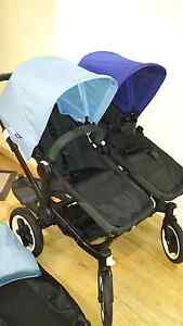 All black bugaboo donkey twin receipt+toddler board West Hoxton Liverpool Area Preview