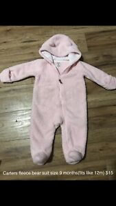Carters fleece bear suit