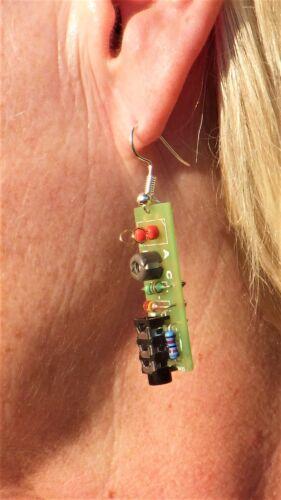 Worlds smallest Crystal Radio?? DIY Earring Solder KIT (PAIR)