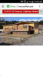 HOUSE RENTAL IN CROWSNEST PASS!!!
