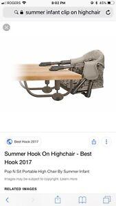 Summer infant clip on chair / high hair