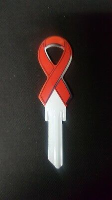 Aids Awareness Ribbon (HIV/AIDS Awareness Red Ribbon House Key Blank Schlage SC1)