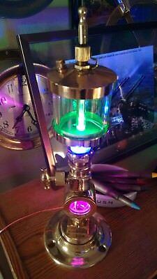 Restored Rare Antique Brass Drip Oilers Brass Spigot Night Light