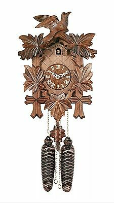 River City Clocks Cuckoo Wall Clock 8 Day 2 Weight Handcarved 811-13