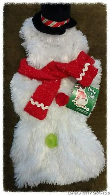 Holiday Snowman Dog Costume/Clothing, Sizes S,M,L - Dog Snowman Costume