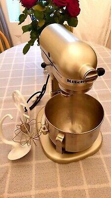 KitchenAid 5KPM50 4.8 Litre Heavy Duty Mixer Metallic White Gold  Bowl Lift