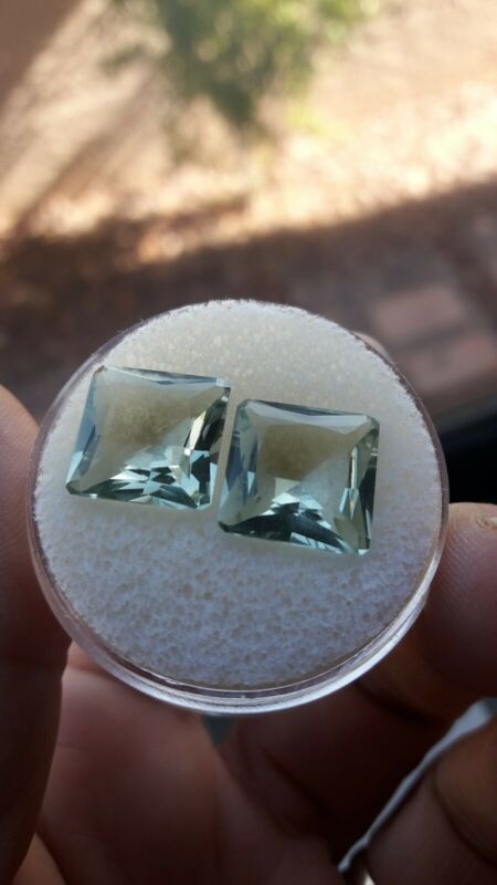 "Gorgeous! Green Amethyst  11.91ct  Princess Cut - .5""- Prasiolite Loose Gemstone"