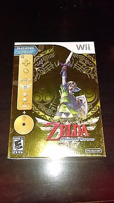 The Legend Of Zelda  Skyward Sword Gold Remote Bundle   Brand New  Free Shipping