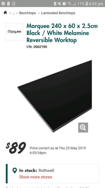 Brand new black melamine benchtop | Building Materials | Gumtree