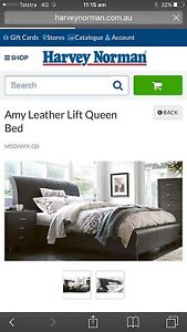 100% Genuine WHITE Leather Queen Lift Bed Enfield Golden Plains Preview
