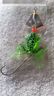 Fishing lures frog spinner