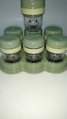 Magic Bullet Baby Bullet Food Container 7 Date Dial Storage Cups with Lid &Tray,