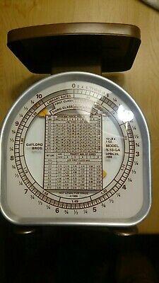 Vtg Pelouze Postal Scale Model Y10 Ga 10lb Mailing Analog Scale